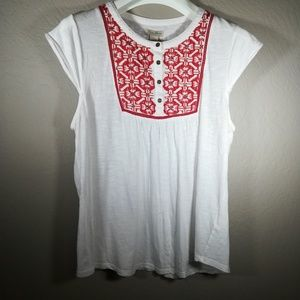 Lucky Brand embroidered summer blouse